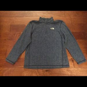MEN fleece THE NORTH FACE BLUE PATTERNED PULLOVER